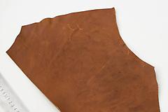 Suroviny - Zbytková koža hnedá - 10187310_