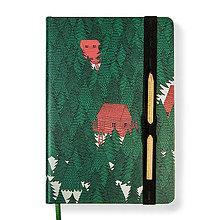 Papiernictvo - Zápisník A6 Hlboko v lese - 10185244_