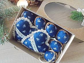 Dekorácie - Vianočné ozdoby z modrotlače - 10183693_