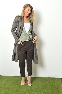 Kabáty - Vyšívaný tvídový kabátek, vel. S - M - 10184856_