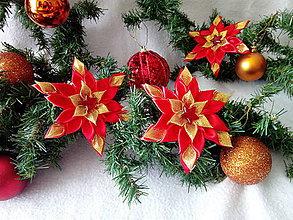 Dekorácie - Vianočná hviezdička - 10186409_