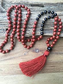 Náhrdelníky - Mala náhrdelník jaspis a ónyx - 10188520_