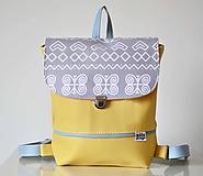 Batohy - Hugo Girl batoh žltý (Čičmany) - 10190098_