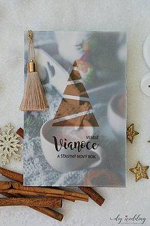 Papiernictvo - Vianočná pohľadnica Teplo Domova - 10188846_