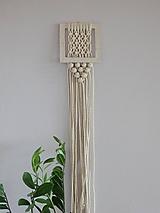 Dekorácie - Závesná dekorácia - keramika a makramé II - 10190603_