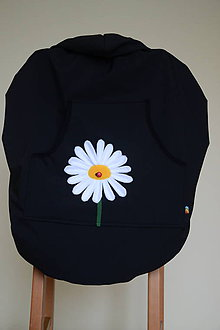 Detské doplnky - SOFTSHELLová ochranná kapsa s odopínateľným flisom - čierna+bledo modré vrecko - 10190523_