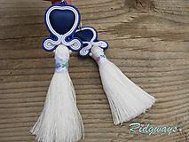 Tassels collection...soutache (Blue Heart)