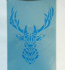 Pomôcky/Nástroje - Šablóna - 20x30 cm - Vianoce, jeleň, origami, geometria - 10188731_