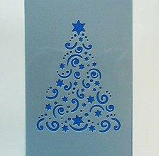 Pomôcky/Nástroje - Šablóna - 10x15 cm - Vianoce, stromček, mini, ozdoby - 10188737_