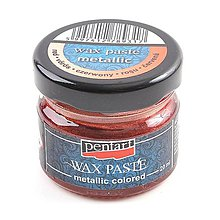 Farby-laky - Metalická vosková pasta, 20 ml (červená) - 10188783_