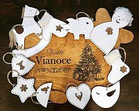 Dekorácie - Sada vianočných ozdôb - biela - 10189877_