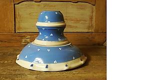 Svietidlá a sviečky - Keramické tienidlo lampy - modrý - 10189317_