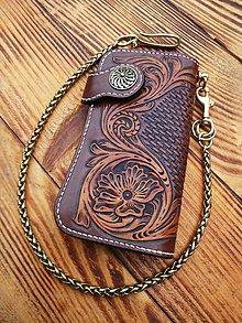 Peňaženky - Kožená peňaženka - 10188642_