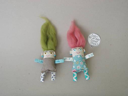Dievčatko - textilná magnetka