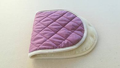 Textil - Podložka do vaničky kočíka STOKKE Scoot 100% ovčie rúno MERINO ELEGANT levanduľová - 10188335_