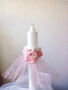 Iné doplnky - ozdoba na sviečku-prvé sväté prijímanie,krst - 10189355_