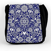 Iné tašky - Taška na plece L ľudový motív kvety a vtáky 06 - 10191276_