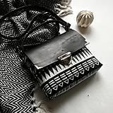 Kabelky - Kožená kabelka (ručne maľovaná Ornament 2) - 10189111_