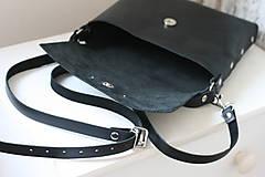 Kabelky - Kožená kabelka (ručne maľovaná Ornament 2) - 10189116_