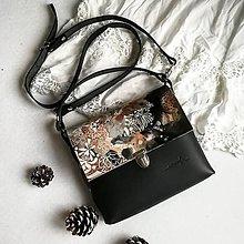 Kabelky - Kožená kabelka (ručne maľovaná Wild) - 10189148_