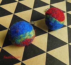 Náušnice - retro napichovačky farebnice vypuklé / 35mm - 10189436_