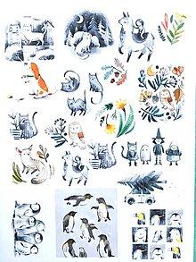 Papier - nálepky Kreslené zvieratká - 10189555_