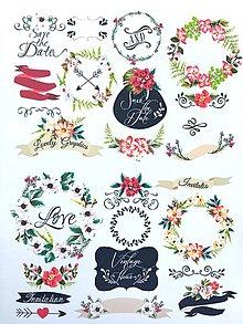 Papier - nálepky Kvetinová pozvánka - 10189585_