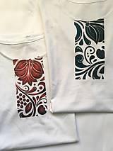 Oblečenie - pánske tričko k sukni Červený ornament - 10189917_