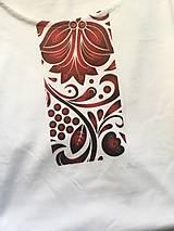 Oblečenie - pánske tričko k sukni Červený ornament - 10189919_