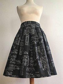 Sukne - sukňa s notami v čiernom - 10189849_