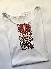 Oblečenie - pánske tričko k sukni Červený ornament - 10189921_