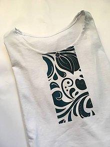 Oblečenie - pánske tričko k sukni Smaragdový ornament - 10189931_