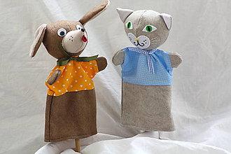 Hračky - Maňuška. O psíkovi a mačičke sa porozprávajme... - 10190397_