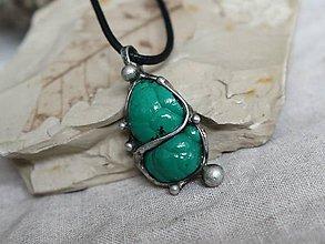 Náhrdelníky - Zelená vlna (malachit) - 10191421_