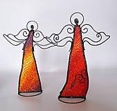 Dekorácie - Anjel- stojaca dekorácia / tienidlo - 10189390_
