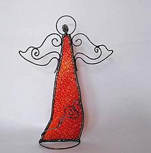 Dekorácie - Anjel - stojaca dekorácia / tienidlo - 10189358_
