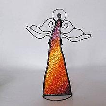 Dekorácie - Anjel- stojaca dekorácia / tienidlo - 10189386_