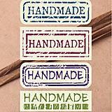 NA102 Nálepka Handmade 5 x 1,7 cm (4 ks)