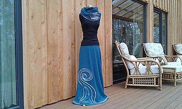 Sukne - Teploučká sukně v barvě petrolejové i na míru - 10189459_