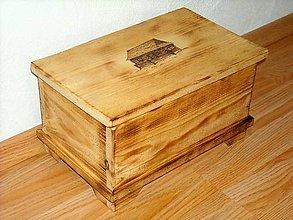 Krabičky - Drevená debnička - 10189510_