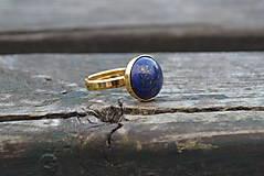 Prstene - Lapis Lazuli prsteň Ag 925 pozlátený - 10189733_