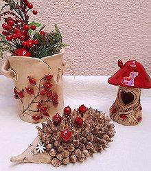 Dekorácie - Keramický ježko. - 10190859_