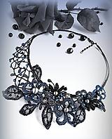 Náhrdelníky - Noční zahrada náhrdelník - 10190689_