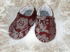 Topánočky - folk bordové - 10191178_