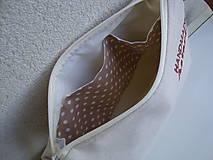 Kabelky - Ľanová kabelka s makom - 10191126_