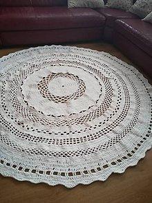 Úžitkový textil - Hačkovaný koberec - 10189943_