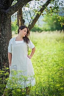 Iné oblečenie - Ľanová zástera - 10188341_