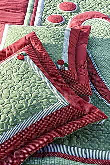 Úžitkový textil - Vankúš - prequiltovaný - 10190067_