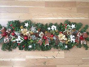 Dekorácie - Vianočna girlanda pre Silviu - 10189748_