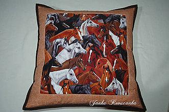 Úžitkový textil - koníky - 10191087_